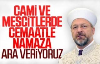 Ali Erbaş: Namazlar evde kılınmalı