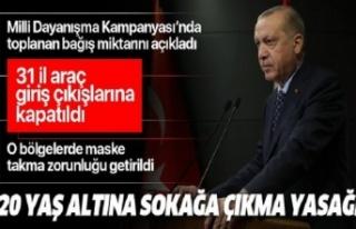 Başkan Erdoğan koronavirüsle mücadelede yeni tedbirleri...