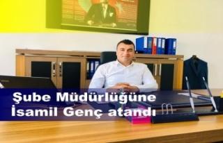 İsmail Genç, İlçeMilli Eğitim Müdürlüğü'nde...