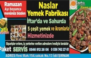 Naslar Yemek Fabrikasından Ramazan ayı hizmeti