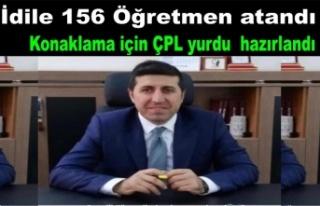 İdile 156 öğretmen atandı