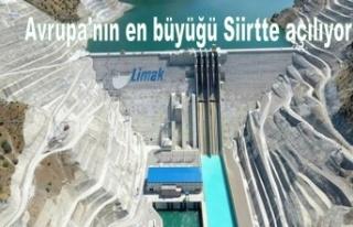 Siirt'te kurulan Çetin Barajı üretime açılıyor