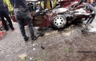 İdil'de trafik kazası 1ölü 8 yaralı