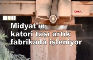 Midyat'ın katori taşı artık fabrikada işleniyor