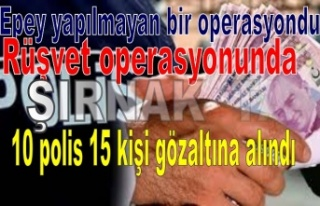 Rüşvet operasyonunda 10 polis 15 kişi gözaltına...