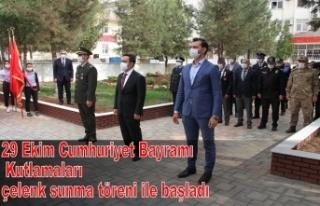 29 Ekim Cumhuriyet Bayramı Kutlamaları çelenk sunma...