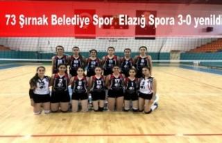 73 Şırnak Belediye'yi Elazığ Spora 3-0 yenildi