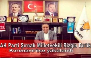AK Parti Şırnak Milletvekili Rizgin Birlik koronavirüse...