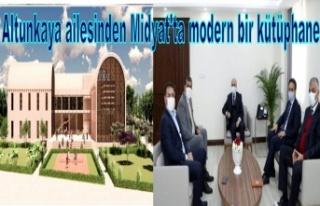 Altunkaya ailesinden Midyat'ta modern bir kütüphane