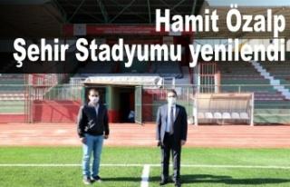Cizreilçesindeki HamitÖzalpŞehir Stadyumu...