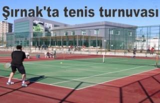 Şırnak'ta tenis turnuvası