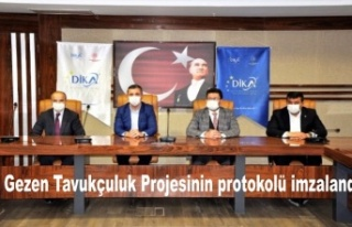 Uludere Gezen Tavukçuluk Projesinin protokolü imzalandı