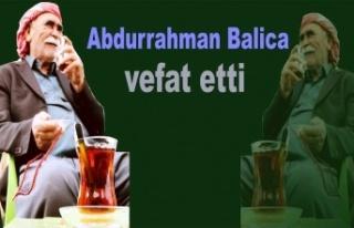 Abdurrahman Balica vefat etti