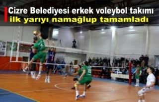 Cizre Belediyesi erkek voleybol takımı ilk yarıyı...