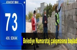 İdil Belediyesi 'Numarataj' çalışmasına...