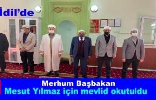 İdil'de Başbakan Mesut Yılmaz için mevlit...