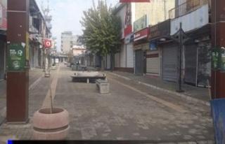Sokağa çıkma kısıtlaması İdil'de sokakları...