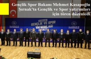 Gençlik Spor Bakanı Mehmet Kasapoğlu Şırnak'ta...