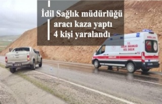 İdil Sağlık müdürlüğü aracı kaza yaptı 4...