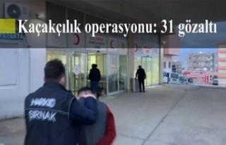 Kaçakçılık operasyonu: 31 gözaltı