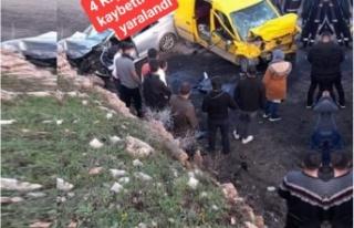 İdil'de Trafik kazası 4 kişi hayatını kaybetti...
