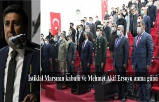 İstiklal Marşının kabulü ve Mehmet Akif Ersoyu...