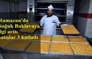 Ramazan'da Soğuk Baklavaya ilgi arttı satışlar...