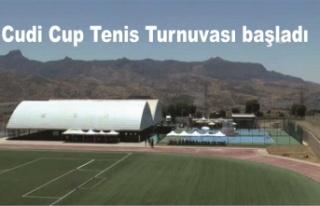 Cudi Cup Tenis Turnuvası başladı