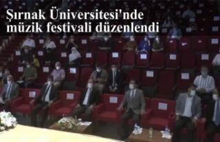 Şırnak Üniversitesi'nde müzik festivali düzenlendi