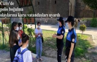 Cizre'de polis boğulma olaylarına karşı vatandaşları...