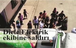 Dicle Elektrik ekibine saldırı