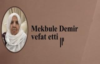 Mekbule Demir vefat etti