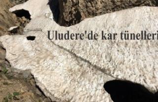 Uludere'de kar tünelleri