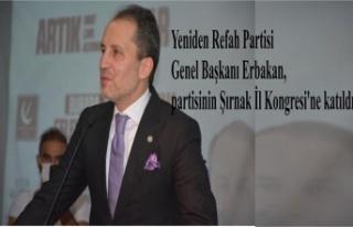 Yeniden Refah Partisi Genel Başkanı Erbakan, partisinin...