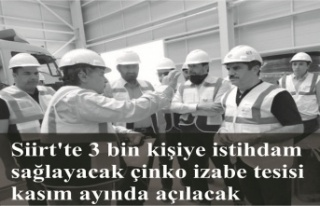3 bin kişiye istihdam sağlayacak çinko izabe tesisi...