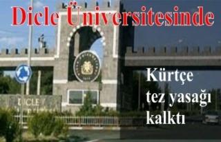 Dicle Üniversitesinde Kürtçe tez hazırlama yasağı...