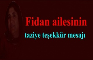 Fidan ailesinin taziye mesajı