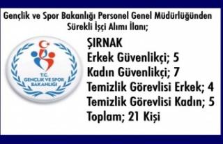 Gençlik ve Spor Bakanlığı'na 4 bin 346 işçi...