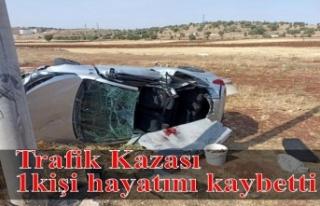 Trafik Kazası 1 kişi hayatını kaybetti
