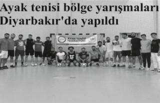 Ayak tenisi bölge yarışmaları Diyarbakır'da...
