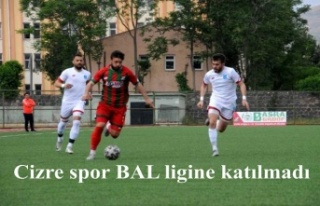 Cizrespor'un BAL'a ligine katılmama kararı...