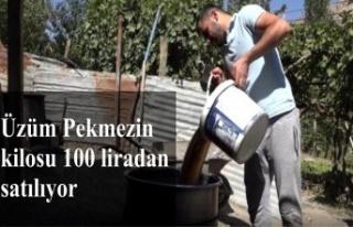 Üzüm pekmezinin kilosu 100 liradan satılıyor