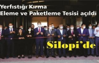Yerfıstığı Kırma, Eleme ve Paketleme Tesisi açıldı
