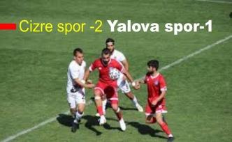 Cizre spor -2 Yalova spor-1