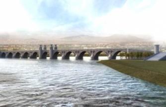 Cizre'de 11 gözlü Taş Köprü için temel atıldı
