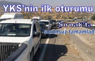 YKS sınavının ilk oturumu Şırnak'ta sorunsuz tamamlandı