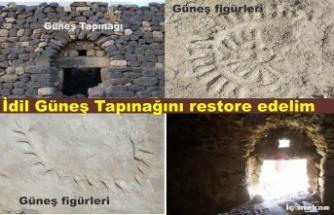 İdil Güneş Tapınağını restore edelim