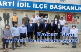 Bakan 'dan AK Parti İlçe teşkilatına ziyaret