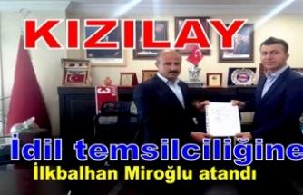 Kızılay İdil Kordinatörlüğüne ilkbalhan Miroğlu atandı