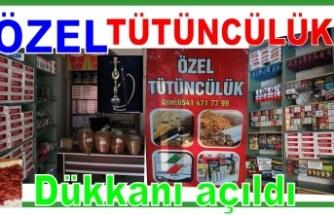 Özel Tütüncülük dükkanı açıldı